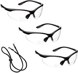 voltX 'CONSTRUCTOR' Bifocal Plano Readers Safety Glasses/Cycling Sports Glasses (Clear) CE EN166F certified