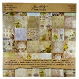 Tim Holtz Idea-ology Wallflower Paper Stash by, 36 Sheets, Double-Sided Cardstock, Various Sizes, Multicolored, TH93110