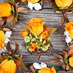 Green-Hydrangea-and-Orange-Roses-Silk-Flowers-Corsage-Fall-Wedding-Flowers-by-BalsaCircle