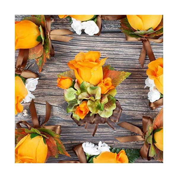 Green-Hydrangea-and-Orange-Roses-Silk-Flowers-Corsage-Fall-Wedding-Flowers-by-BalsaCircle
