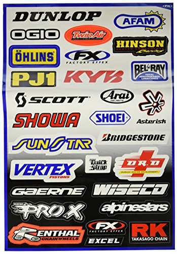 Factory Effex (10-68000 Sponsor/Logo Sticker - Factory Effex Logo Stickers