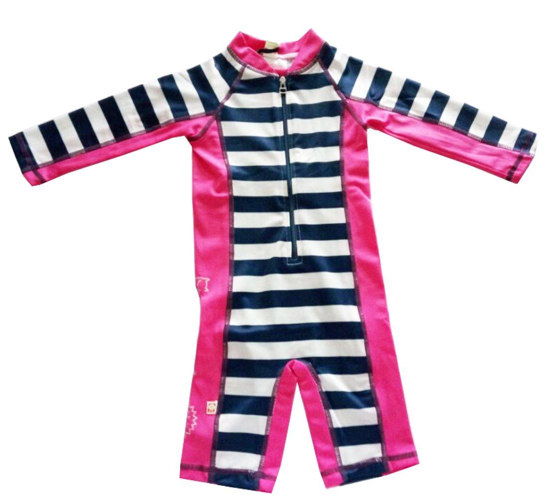 eKooBee Infant Baby Boys Sunsuit One Piece Circle Striped Swimwear Sun Suit
