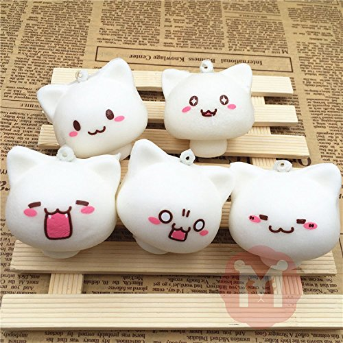 Cats Kittens - Stuffed Cats And Kittens - Cell Phone Charm Strap - Soft Animal Toys - Happy Faces - Squeeze Toy - Squishy Toys Mushroom Cat Kawaii Cartoon Cute (Kawaii Mushroom)