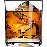 Krosno Europe Non-Lead Crystal-Clear Glass, Lifestyle Whiskey Tumbler, 300 Ml Set of 6