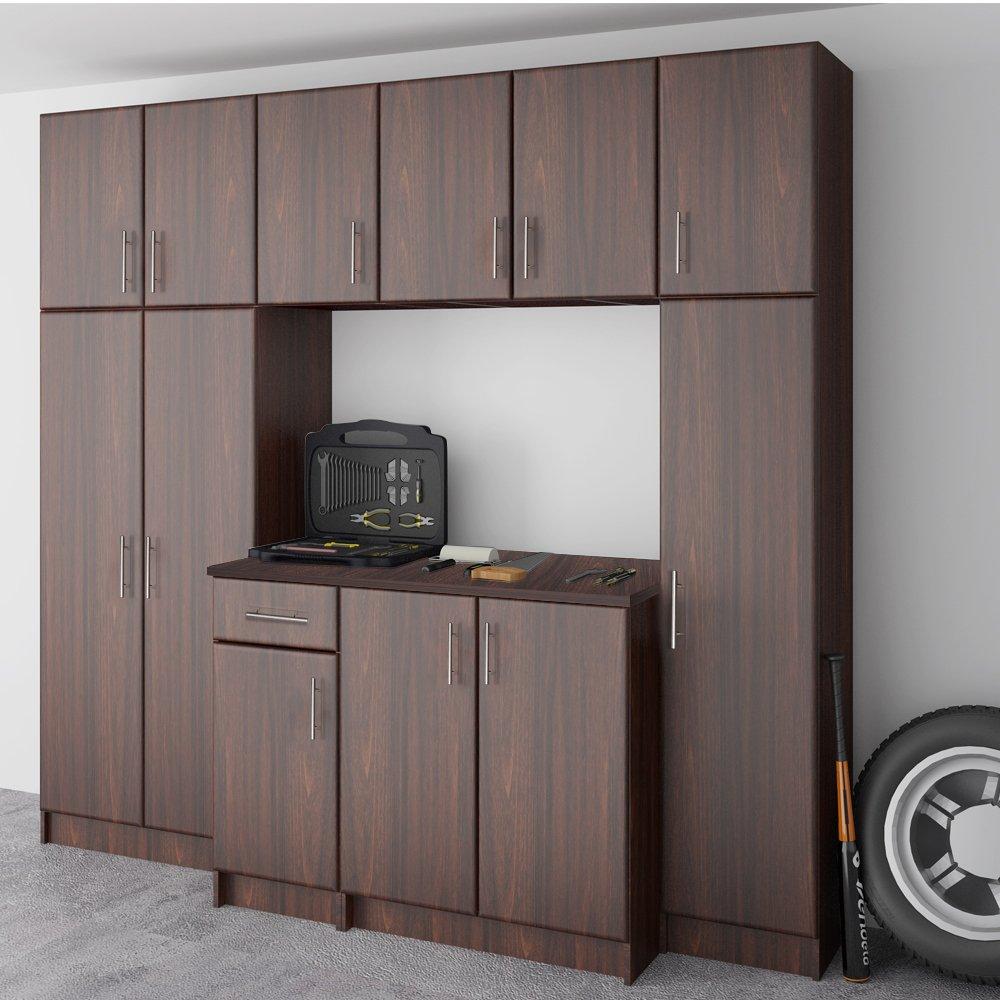 LifeSky LIF-CKC3002-2 Storage Cabinet, 16''x24'' Wall, Walnut by LifeSky (Image #4)