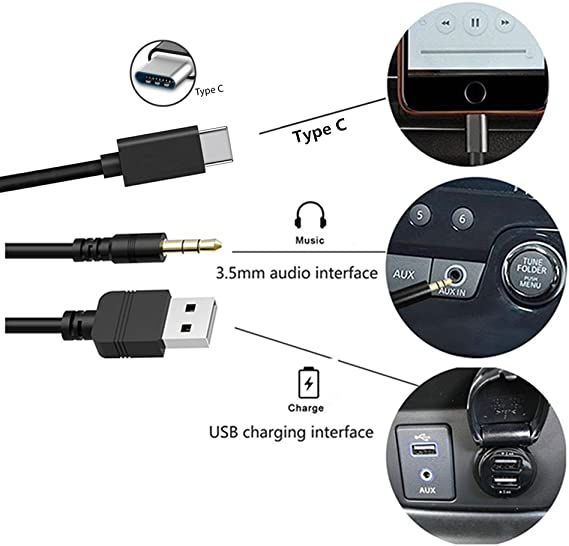 Usb C Aux Quick Charge Cable For Bmw Mini Universal Car Elektronik