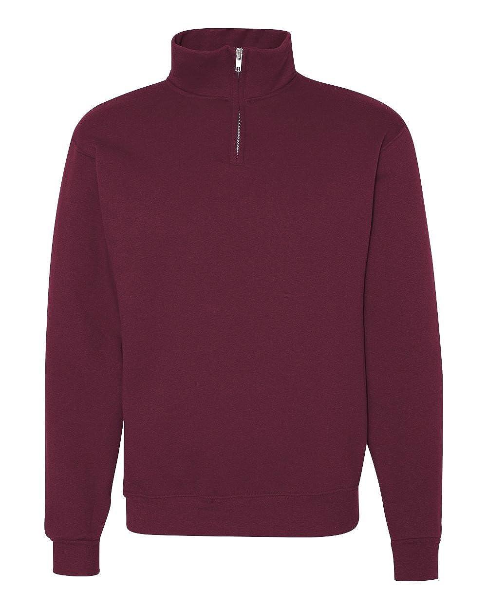 Jerzees Mens 995 Quarter-Zip Cadet-Collar Sweatshirt Jerzees 995M