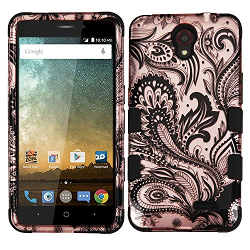 asmyna-cell-phone-case-for-zte-avis-trio-phoenix-flower-2d-rose-gold-black