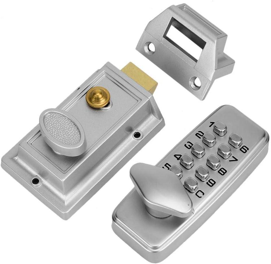 Sutinna Cerradura con código de Seguridad Cerradura codificada de Seguridad, Cerradura mecánica con código Cerradura con código, Impermeable para Puerta Interior para Puertas Exteriores