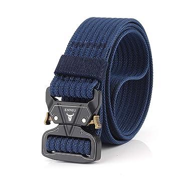 ZheTianmios Ejército Nylon Cinturón táctico Militar Hebilla de Metal Jeans Cinturón  Hombres Cinturón de Cintura al dfd6c2e4b192