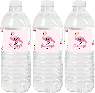product image for Pink Flamingo - Party Like a Pineapple - Tropical Summer Party Water Bottle Sticker Labels - Set of 20