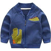 Haotong - Chaqueta de Bebé Niños de Algodón con Bordado Dinosaurio para Otoño Primavera Sudadera de Niñas con Mangas…