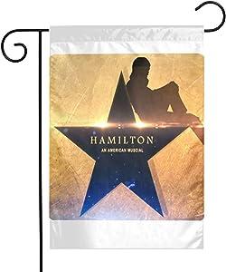 Dawiine Hamilton an American Musical Garden Flag Double Sided 12 X 18 Inches Polyester Seasonal Flags for Outdoor Wedding Home Yard Decor