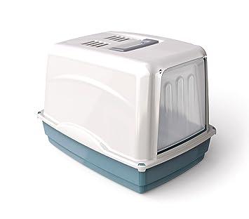 10582 Inodoro WC para gatos mod. VICKY con puerta frontal 54x39x39 cm - Azul: Amazon.es: Hogar