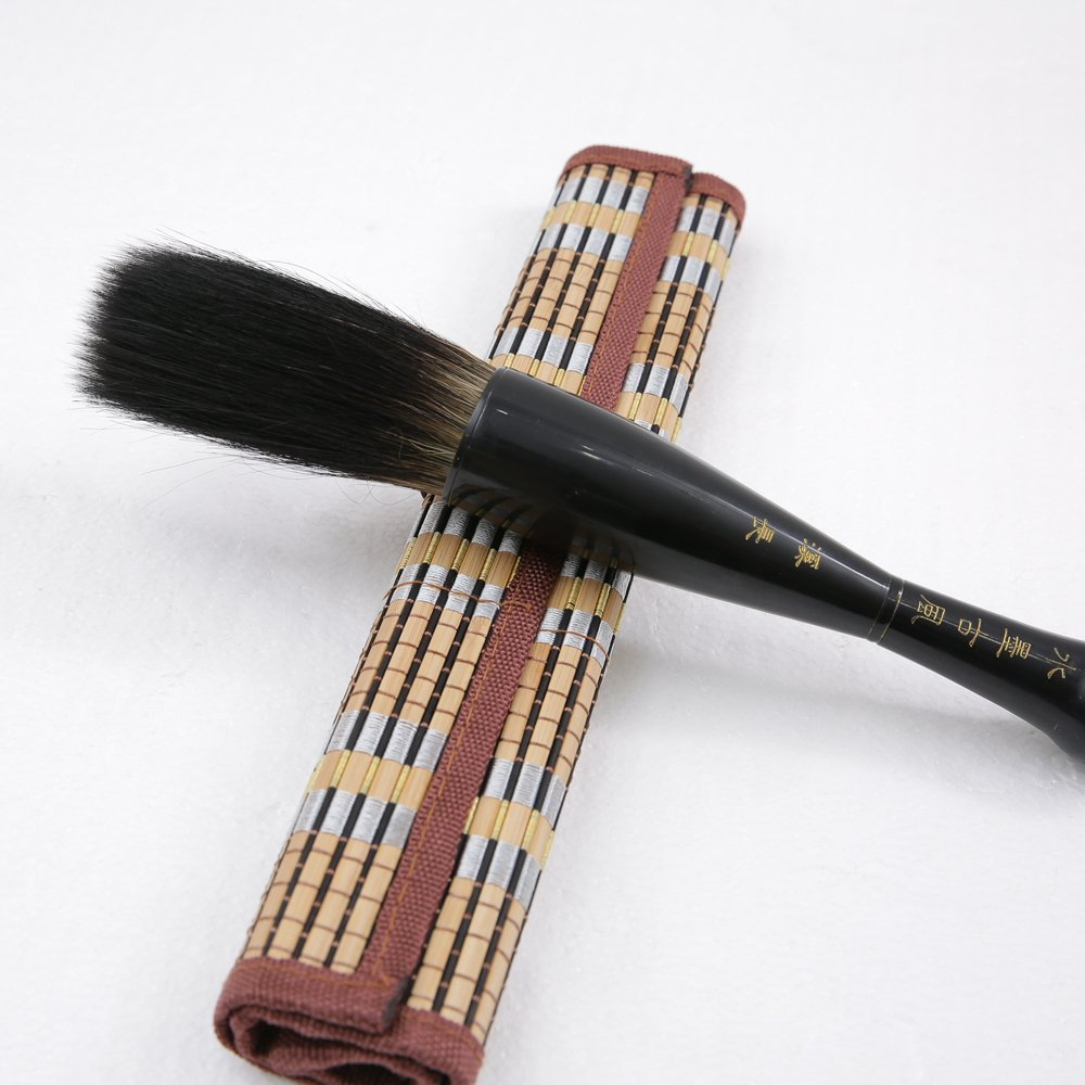 MB023-1 Hmay Huge Chinese Traditional Calligraphy Brush / Sumi Painting Drawing Brush Plus Bamboo Wrap