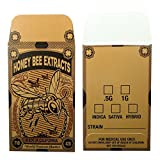 1000 Honey Bee Extracts Concentrate Coin Envelopes by Shatter Labels #124