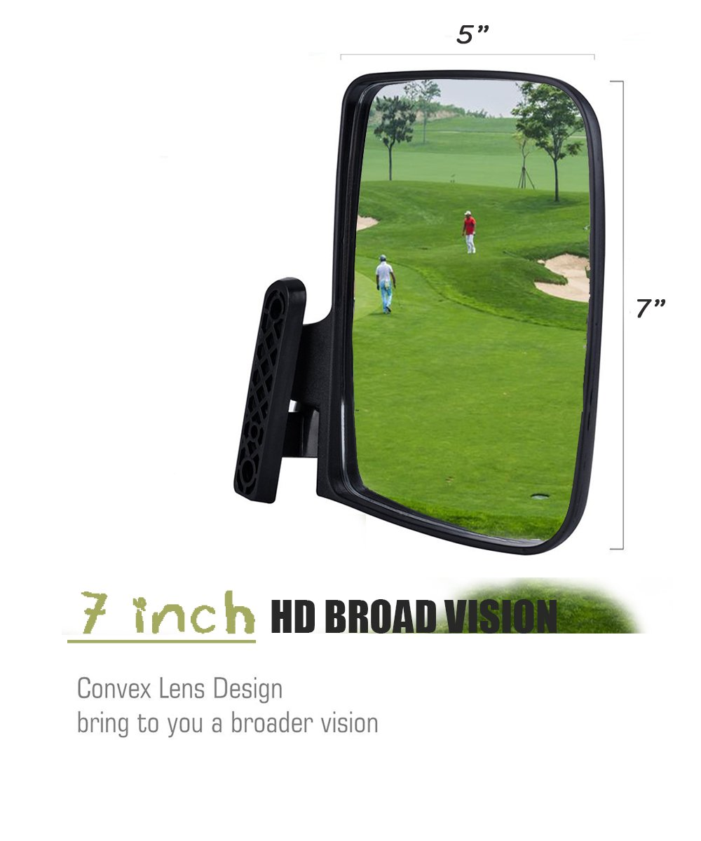 Valchoose Golf Cart Side Mirrors for EZGO Club Car Yamaha, Foldable Golf Cart Accessories by Valchoose (Image #2)