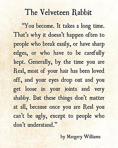 Amazon.com: Velveteen Rabbit Quote, Margery Williams Print