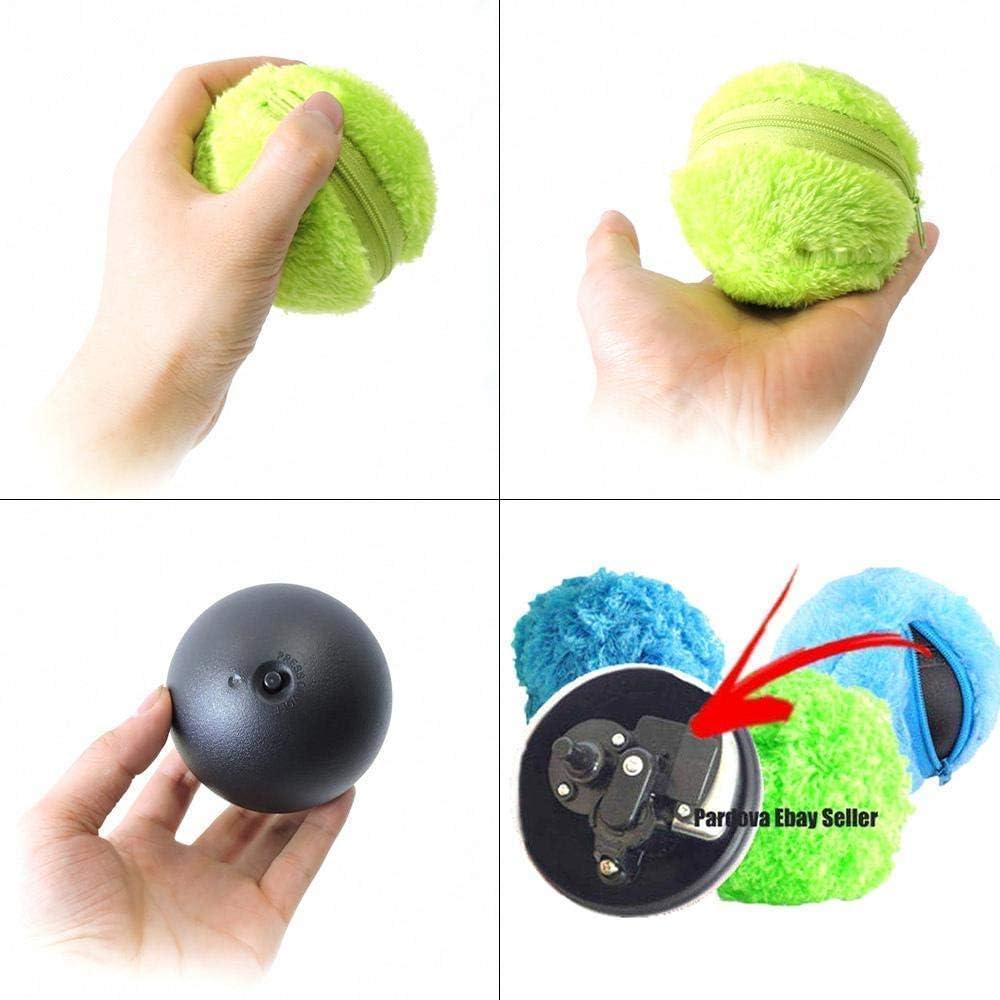 Aiviel Magic Rullo per Cani Electric Ball Cane Giocattolo Divertente Automatico rotolamento e Rotazione Palla Giocattolo per Cani con 4/Color Ball Cover
