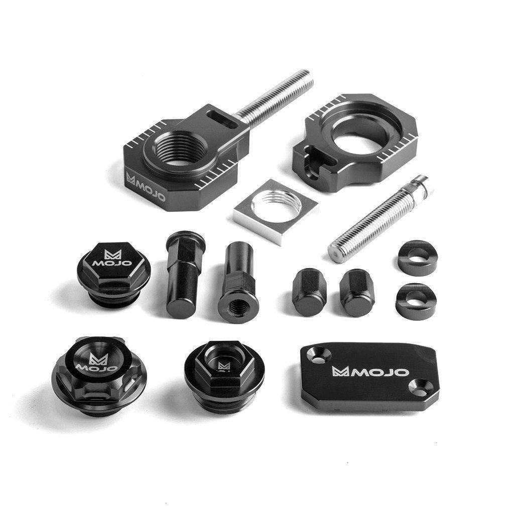 MojoMotoSport - KTM Bling Kit Black - CNC Billet Anodized Aluminum - MOJO-KTM-BK2BLK