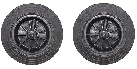 2 x ruedas de repuesto para papelera, negro, 60/80/120/