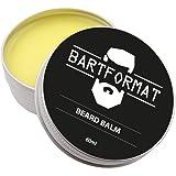 BARTFORMAT Beard Balm (60 ml) - Natürliches Bartpflege Balsam für Geschmeidige Barthaare - Weiches Bartwachs mit Sheabutter, Aprikosen, Jojoba und Argan Öl
