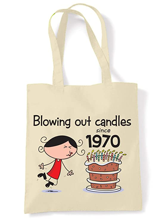 Blowing Out Candles Since 1970 50th Birthday Tote/Shoulder Bag