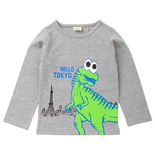 d7570bcea SUNBIBE👻Infant Kids Baby Boys Girls T-Shirt Top Letter Hello Tokyo Cartoon  Dinosaur