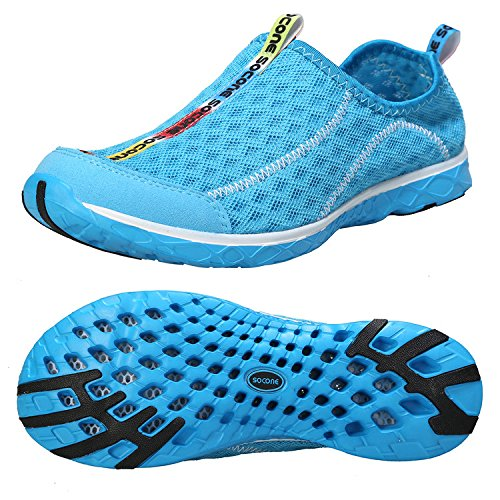 Zhuanglin Women's Quick Drying Aqua Water Shoes Size 8 B(M) US Blue