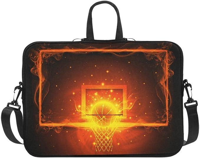 Laptop Case Computer Bag Sleeve Cover Fire Football Black Waterproof Shoulder Briefcase 13 14 15.6 Inch