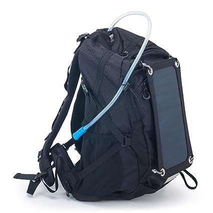 Mochila con cargador solar de USB y bolsa de agua de 2 ...