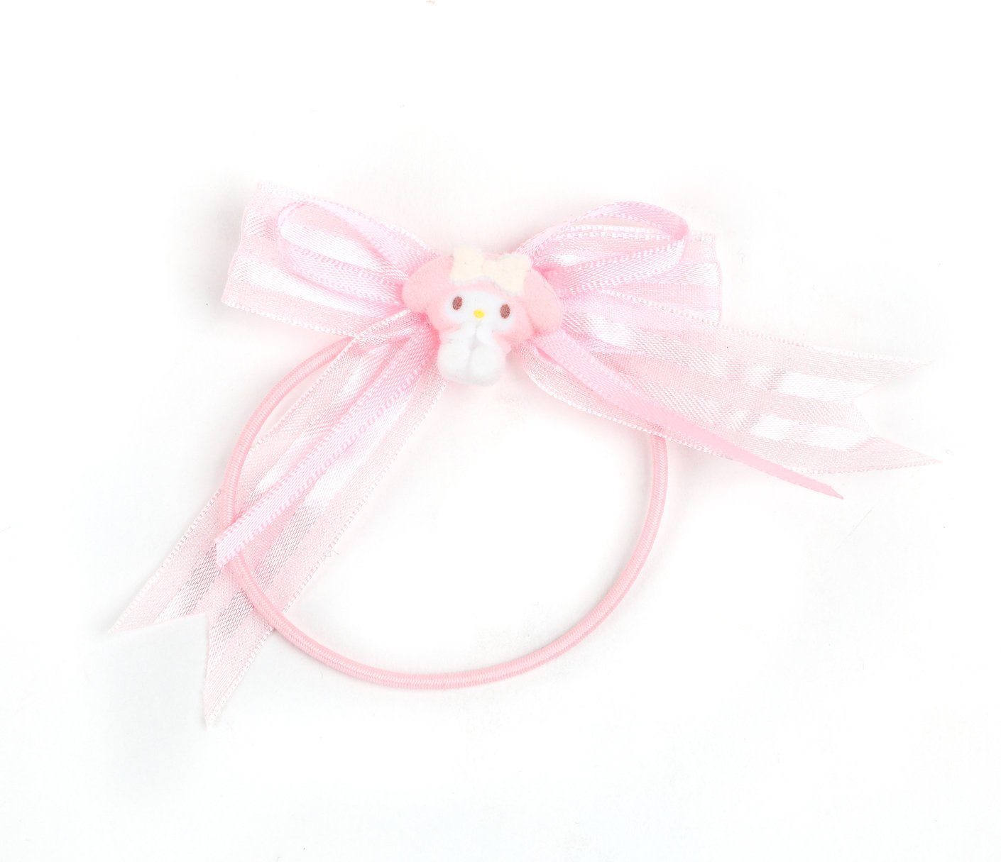Hello Kitty My Melody Pez Dispenser Head Hair Bobbles.Pony Tail Holder.Elastic Hair Tie.Fun.Upcycled.Repurposed.