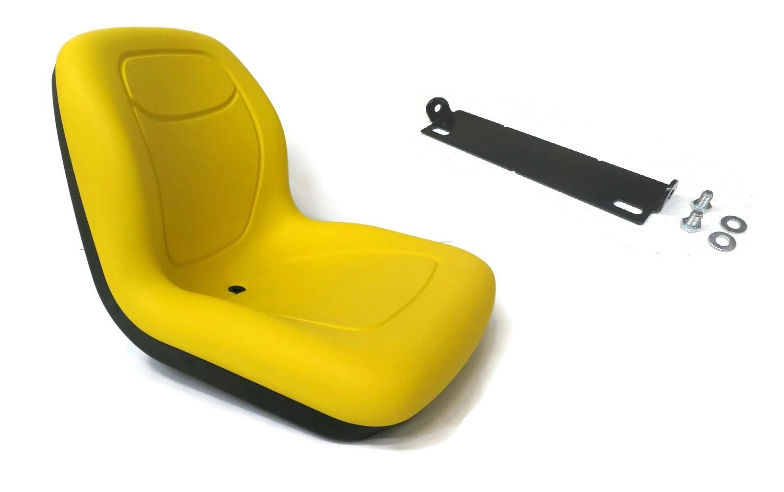 The ROP Shop Yellow HIGH Back SEAT w/Pivot Rod Bracket for John Deere 445 455 SST16 SST18 by The ROP Shop (Image #1)