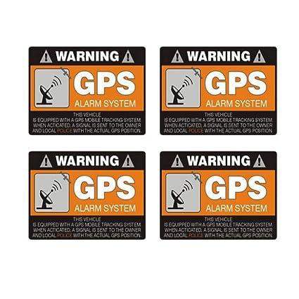 AITU Pegatina de coche 4X 8Cm * 5,3 Cm Advertencia Auto Etiqueta GPS Sistema