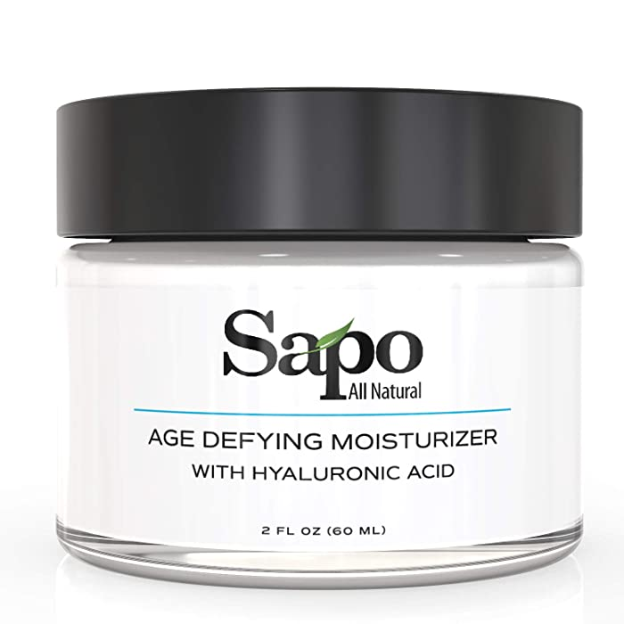 Sapo All Natural Moisturizer with Triple Peptides, Chamomile, Aloe, Vitamin B, C, E and Hyaluronic Acid. Moisturizing, hydrating and rejuvenating for up to 72 hours. Brighten your skin and complexion.