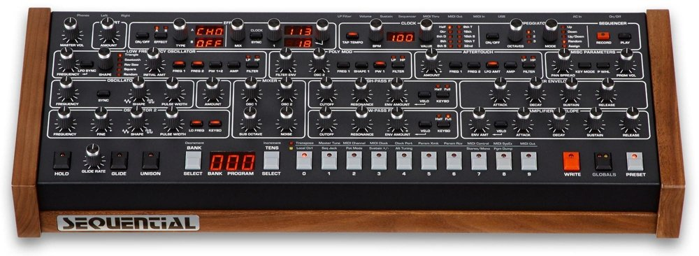 Prophet-6 Desktop Analogue Synthesizer Sequential DSI-1600