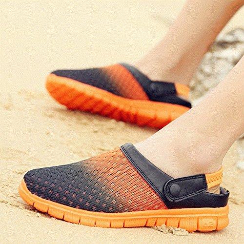 Xing Lin Sandalias De Hombre Los Hombres Del Agujero De Verano Zapatos Zapatillas Zapatillas De Playa De Ventilación De Tendencia Media Zapatillas Honeycomb Sandpiper Sandalias Orange