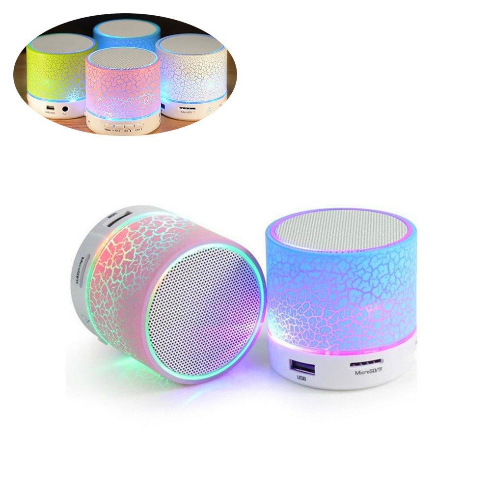 Zsjijia Lampadina a LED con altoparlante integrato Bluetooth, mini altoparlante portatile Bluetooth LED colorato riflesso, lampada cambiante RGB lampada stereo senza fili con telecomando