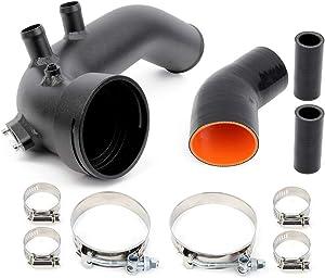 Intake Turbo Charge Pipe Cooling Kit ROADFAR Aluminum Fit For BMW N54 E88 E90 E92 135i 335i 2006-2013 Black