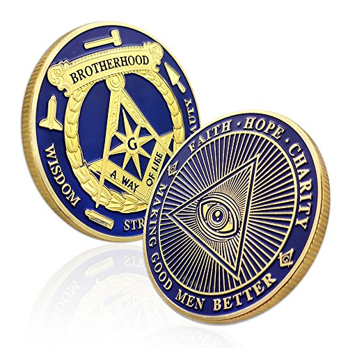 - AtSKnSK Masonic Coin Accessories Blue Lodge Commemorative Freemason Brotherhood Gifts for Collection