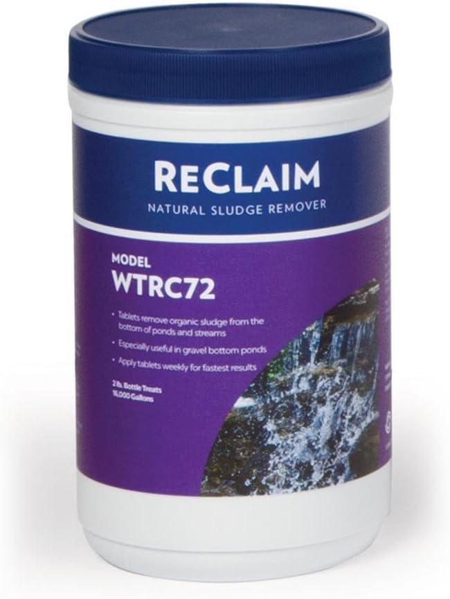 Atlantic Water Gardens Reclaim WTRC72 Natural Sludge Remover, 72-1/2oz Tablets