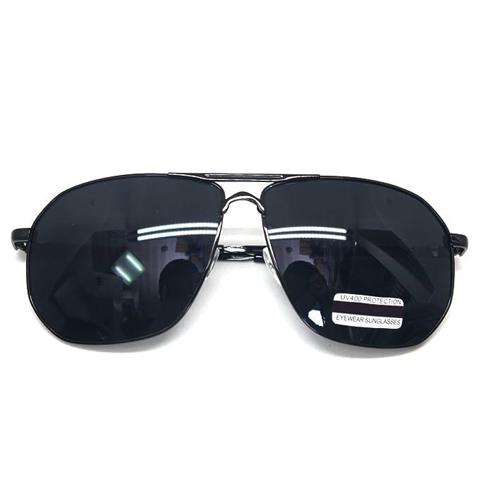 Amazon.com: Oversized anteojos de sol PILOT parte superior ...