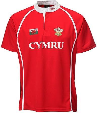 welshsuperstore welsh gifts Fresco y seco Performance Poly Junior de Gales camiseta de Rugby: Amazon.es: Ropa y accesorios