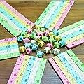 HI-BOOM 540 sheets Bear, Clover, Star, Heart, Flower, Leaves Origami Paper