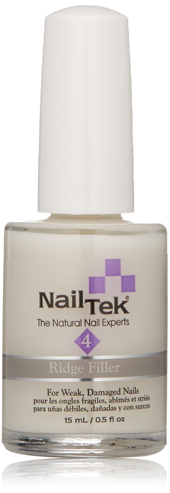 Nailtek Foundation Xtra Ridge-filling Nail Strengthener Base Coat, 0.5 Fluid Ounce by Nail Tek (Image #1)