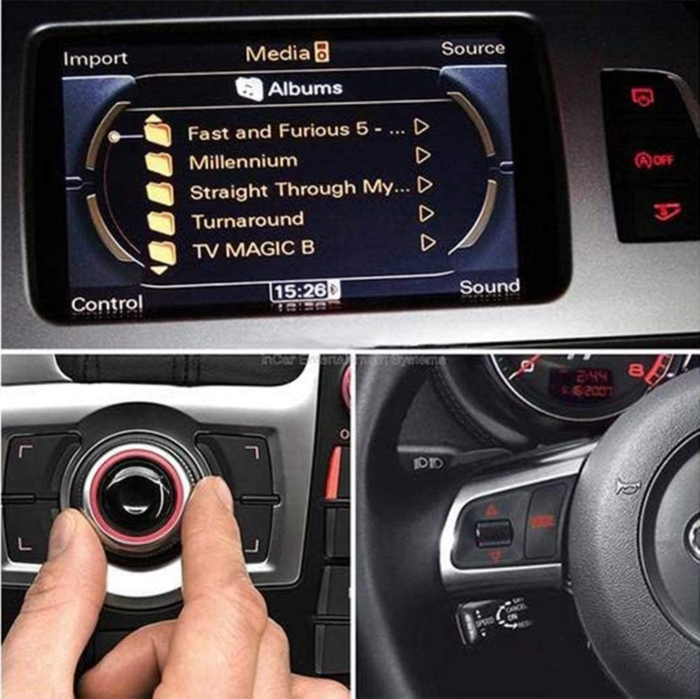 AMI MMI to Bluetooth 5.0 Hi-Fi Music Streaming in Car Media Interface Wireless Audio Receiver HWINTEC Bluetooth Adapter for Audi A4 Audi A4 2014