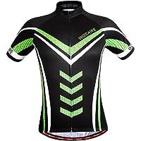 Perfeclan Men's Cycling Short Sleeve Jerseys Tops Full Zip Road Bike Bicycle Clothing