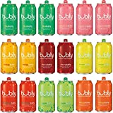 bubly Sparkling Water Sampler, Variety Pack, All 8 Flavors, 12 Ounce Cans (18 Count)