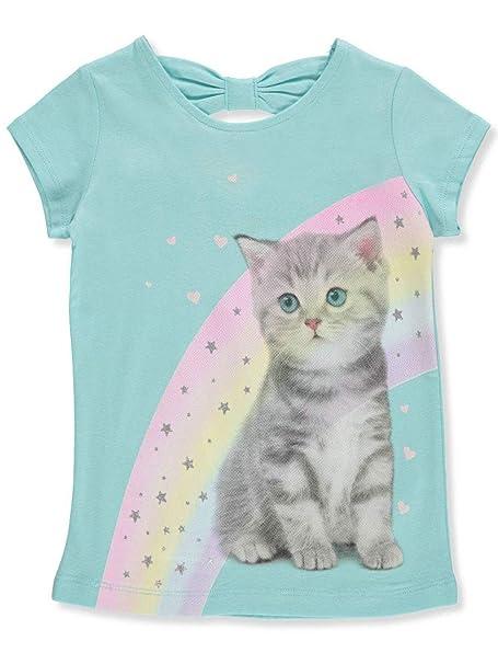c625f07a2 Amazon.com: Carter's Toddler Girls Rainbow Kitten Short Sleeve T-Shirt 2T  Blue Multi: Clothing