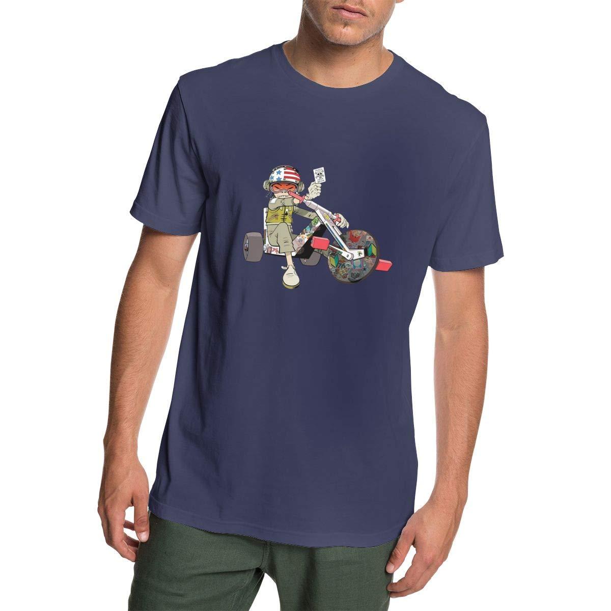 OWEDR Interesting T-Shirts Jamie Hewlett Gorrilaz Mens Shirts Cotton Tee